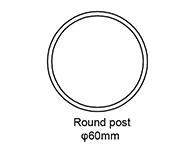 B Round post
